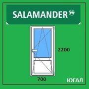 Дверь ПВХ балконная 700х2200 (ШхВ), кредит, рассрочка, SALAMANDER фото