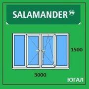 Рама балконная ПВХ, 3000х1500 (ШхВ), кредит, рассрочка, SALAMANDER фото