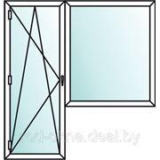 окно (ПВХ) плаcтиковое + балконная дверь в спальню ческой планировки. фото