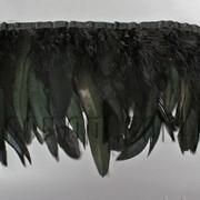 Перо-юбка черная с черными хвостиками 15-20см/48-50см 570823 фото