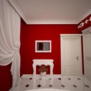 Дизайн интерьера коттеджа в стиле английская классика в 3D проекции фото