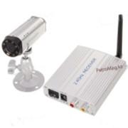Камеры видеонаблюдения 2,4 Мини CMOS беспроводная камера слежения + 4-CH AV-ресивер ( 1 фото