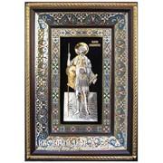 Святой Великомученик Георгий Победоносец - Шикарная Икона С Серебром И Позолотой Код товара: ОСФ-ГП-06 фото
