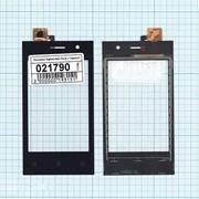 Сенсорное стекло (тачскрин) для Highscreen Pure J черное, Диагональ 3.5 фото