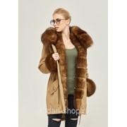 Шикарная парка-пальто женская зимняя с мехом в 5ти цветах П-60 фото