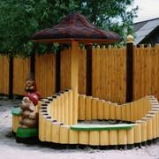 Детские площадки из натурального дерева фото