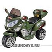 Детский электромотоцикл МОТО HJ 9888 зеленый