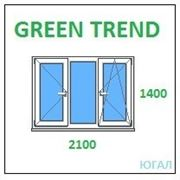 Окно ПВХ 2100х1400 (ШхВ), кредит, рассрочка, Green Trend фото