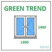 Окно ПВХ 1300х1400 (ШхВ), кредит, рассрочка, Green Trend фото