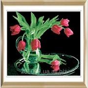 """Набор для рисования камнями """"Букет тюльпанов"""" 7225 фото"""