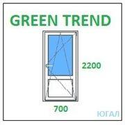 Дверь ПВХ балконная 700х2200 (ШхВ), кредит, рассрочка, Green Trend фото