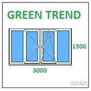 Рама балконная ПВХ 3000х1500 (ШхВ), кредит, рассрочка, Green Trend фото