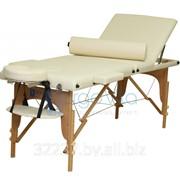 Складной массажный стол деревянный ErgoVita MASTER PLUS 67 см+ валик в съемной сумке (3-х секц,кремовый) фото