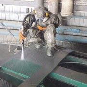 Гидроабразивная обработка металлический изделий фото