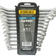 Ключи рожково-накидные 12шт 6-22мм CrV satine sigma 6010121 фото