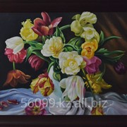 "Картина ""Цветы"" 61х91 фото"