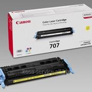 Заправка картриджа: Cartridge С-707Yellow Для принтера:Canon LBP 5000 фото