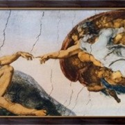 Картина Сотворение Адама, Караваджо, Микеланджело Меризи да фото