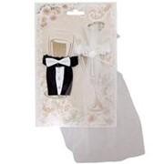 Украшения на свадебные бокалы Жених и Невеста фото