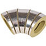 Минераловатные Отводы для труб в фольге 18/90 мм кашированные алюминиевой фольгой LINEWOOL фото