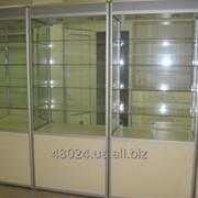 Изготовление витрин из торгового профиля и трубных конструкций (системы Джокер) фото