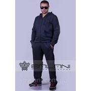 Мужская одежда Мужской спорт костюм (962.1/ДП)/ Темно-СЕрый/ полоски Черные фото