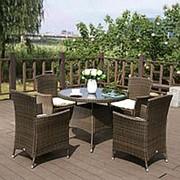 Комплект плетеной мебели AFM-410RD90 4Pcs фото