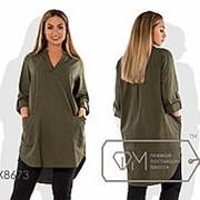 Платье-Туника женская большие размеры (3 цвета) -Хаки PY/-119 фото