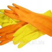 Хозяйственные перчатки Залитая Синяя фото