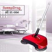 Механическая щётка веник швабра для уборки пола Sweep drag all in one Rotating 360 фото