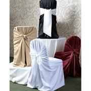 Чехол на стул Универсальный белый фото