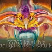 Картина стразами Экзотическая птица - 40х50см фото