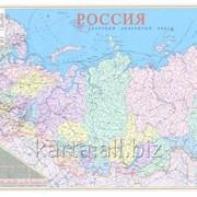 Карта России политико-административная настенная 100х180 см фото