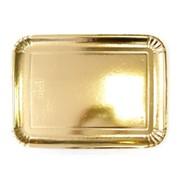 Поднос ЭЛИТ картон.прямоуг.золот.24x16,8 см. (пакет 200 шт.) 65186 фото