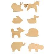 Фигурки животных для росписи 8 шт фото