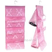 Органайзер для сумок с вешалкой, двухсторонний 5 отделений, цвет розово-белый фото