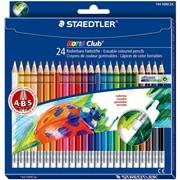 Набор карандашей цветных Staedtler Noris erasable, с ластиком, 24 цвета, картонная коробка 24 цвета фото