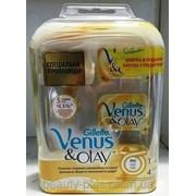 Gillette Venus&Olay, 4 сменные кассеты + ручка фото