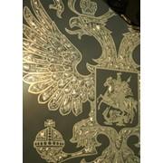 Зеркало с золотым подрывом амальгамы фото