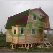 Дом из профилированного бруса проект Б-1 фото