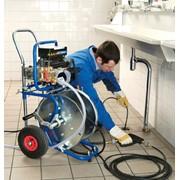 Очистка внутренних трубопроводов канализации фото