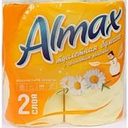 Туалетная бумага ALMAX 2-сл ЖЕЛТАЯ (4рул/упак) (16упак/пак) фото
