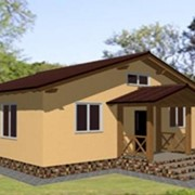 Проект каркасно-панельного дома на 64 м2 фото