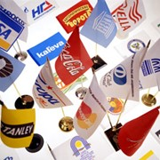 Рекламные флаги фото
