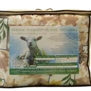 Одеяло 1,5 сп. в чемодане, цв. вкладыш шерсть овечья 320г/м2 140х205 Поликоттон фото