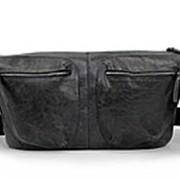 """Мужская кожаная сумка """"Стэнли"""" (черная) фото"""
