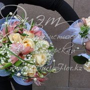 Свадебный букет с ландышами фото