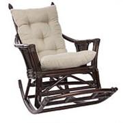 Кресло-качалка Chita орех (110х72х110см) с подушкой фото