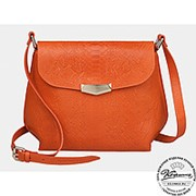 """Женская кожаная сумка """"Ванесса"""" (оранжевый) фото"""