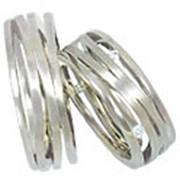 Обручальные кольца из белого золота фото